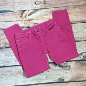 Michael Kors Pink Skinny Jeans Size 6
